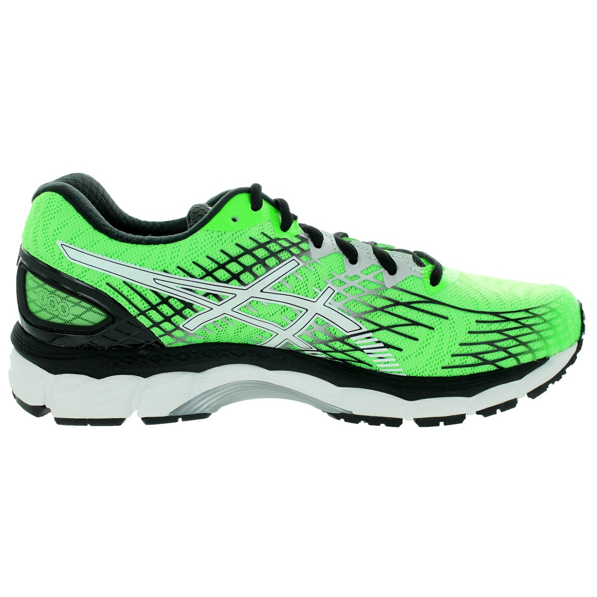 5483b456b5fc Shop Asics Men s Gel-Nimbus 17 Flash Green White Black Running Shoe - Free  Shipping Today - Overstock - 12321170
