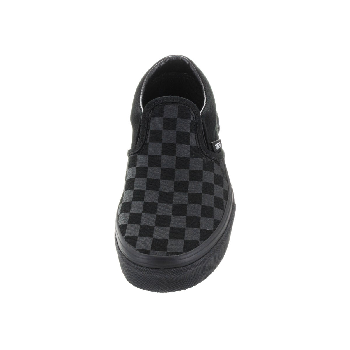 34bc45d87bd Shop Vans Kid s Classic Slip-On (Checkerboard) Mono Black Skate Shoe - Free  Shipping On Orders Over  45 - Overstock - 12321280