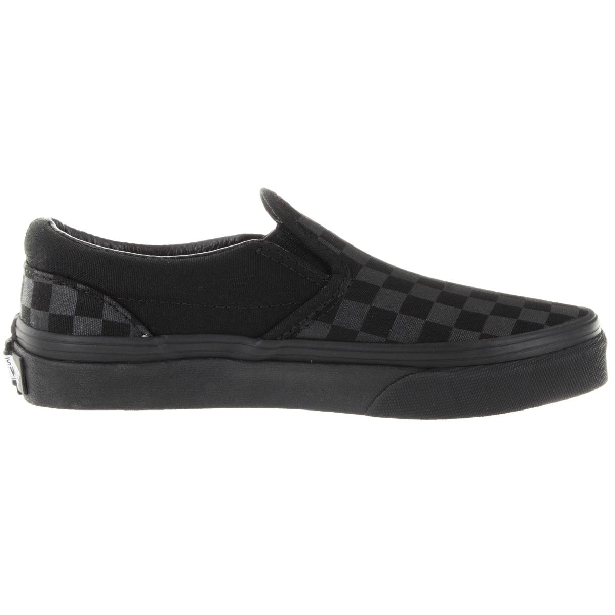 vans classic slip on black monochrome checkerboard