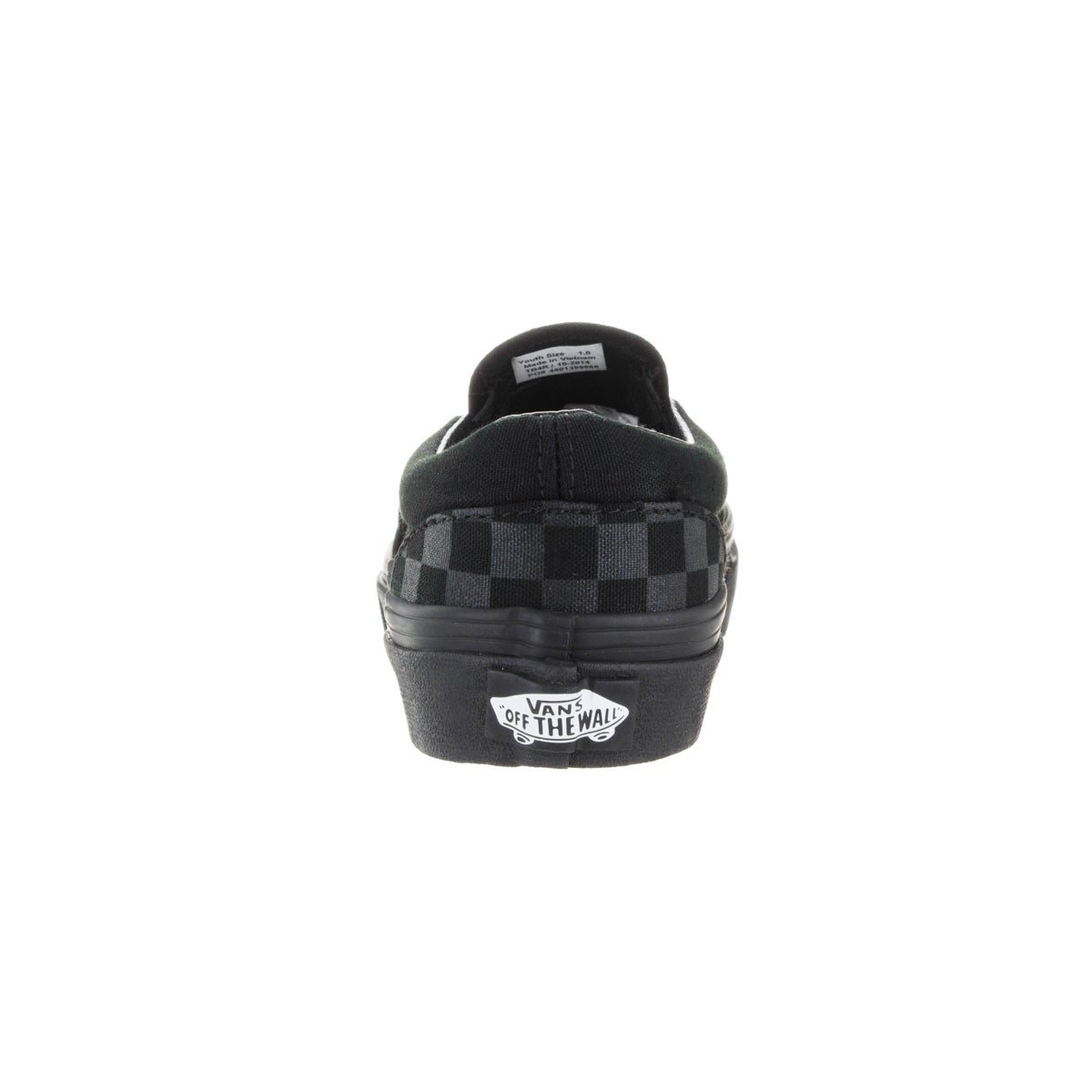 58f95ff4f82739 Shop Vans Kid s Classic Slip-On (Checkerboard) Mono Black Skate Shoe - Free  Shipping On Orders Over  45 - Overstock - 12321280