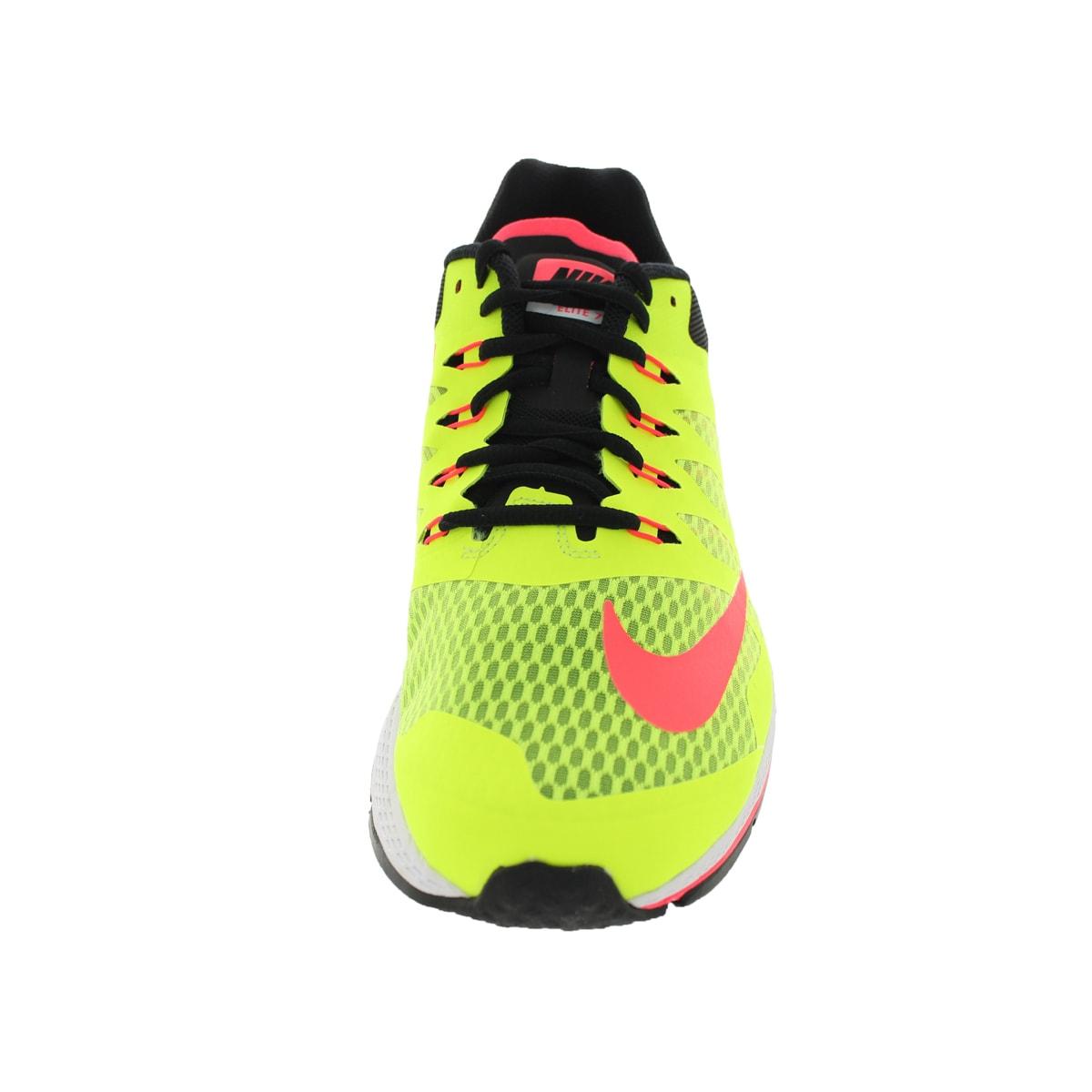 45032b14ecd Shop Nike Men s Zoom Elite 7 Volt Hyper Punch Black Running Shoe - Free  Shipping Today - Overstock - 12321329
