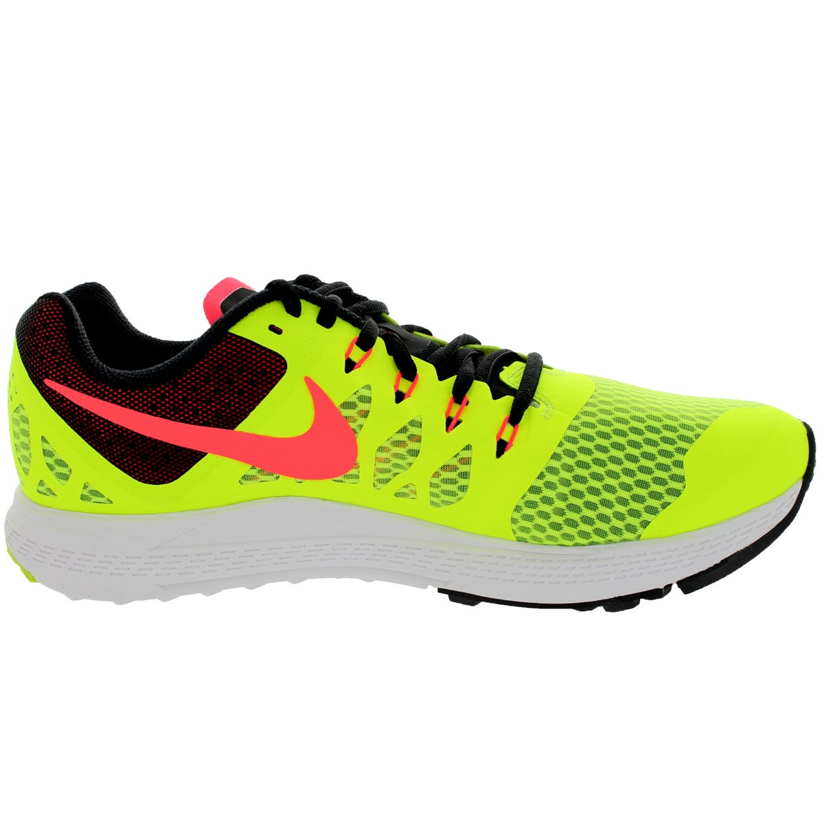 4f614385c340a Shop Nike Men s Zoom Elite 7 Volt Hyper Punch Black Running Shoe - Free  Shipping Today - Overstock - 12321329