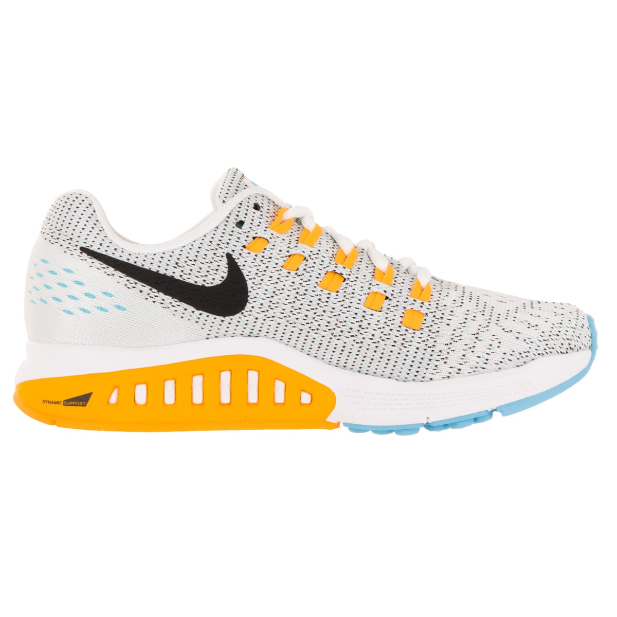 reputable site 6391c 9f445 ... new zealand shop nike womens air zoom structure 19 white black lsr  orange gmm bl running