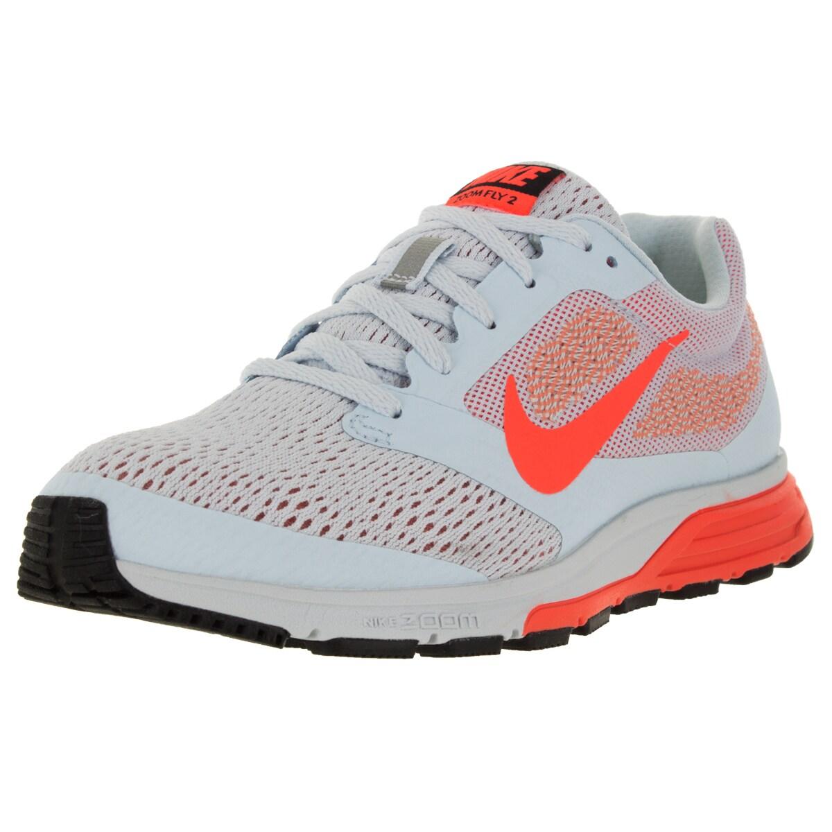 1e2f7a037a3bf Shop Nike Women s Air Zoom Fly 2 Blue Tint  Orange Atmc Pink Running Shoe -  Free Shipping Today - Overstock - 12321716