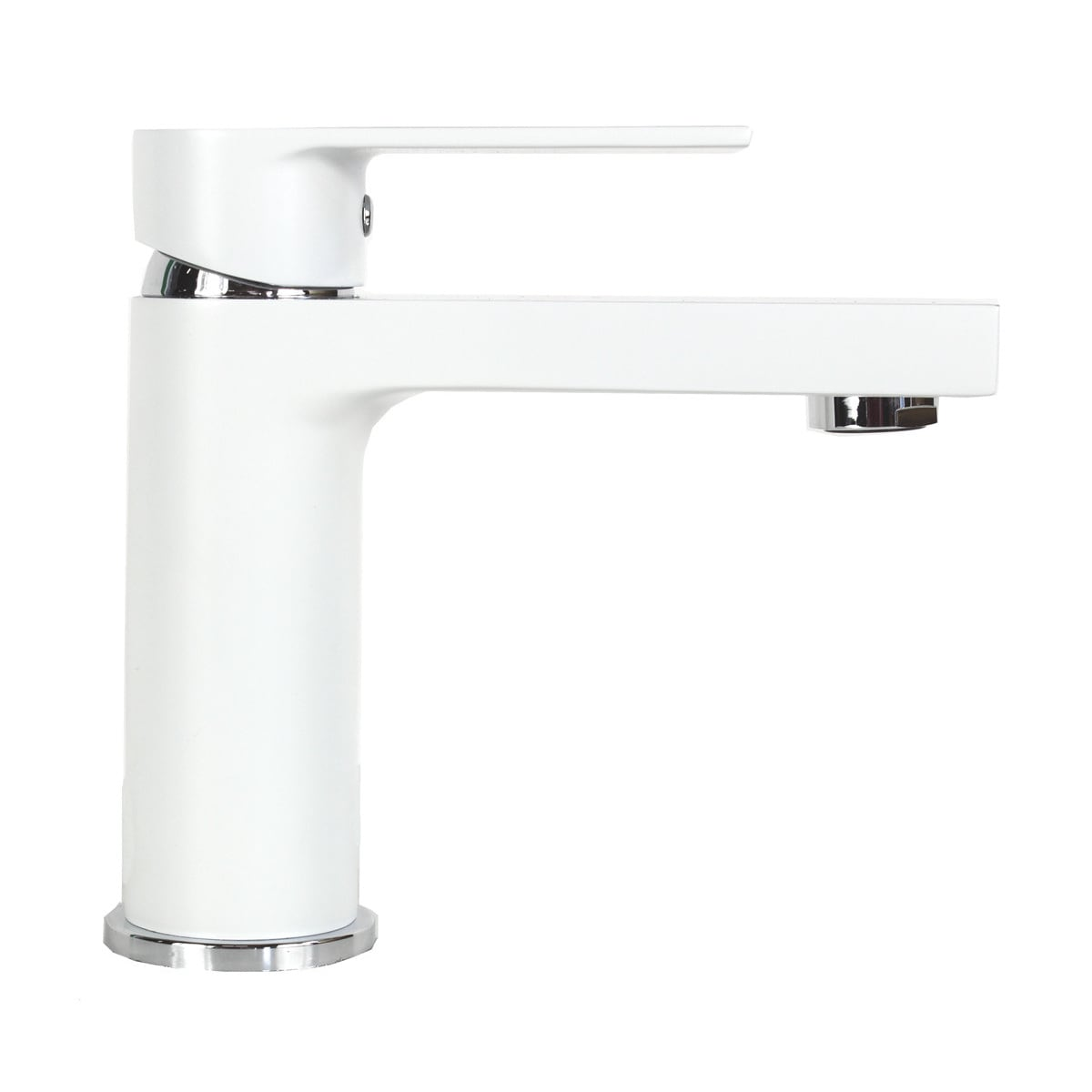 Anna Style Matte White Solid Brass Single-hole Bathroom/Vanity ...