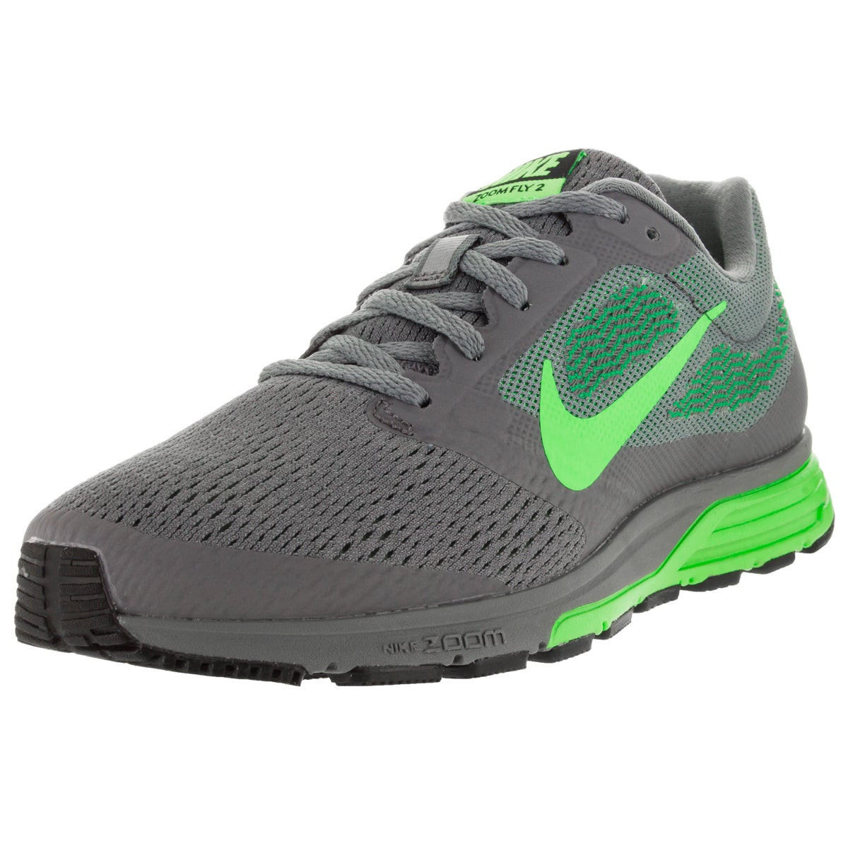 c4433f44d7f3 Shop Nike Women s Air Zoom Fly 2 Cool Grey  Green Lcd G Running Shoe - Free  Shipping Today - Overstock - 12321723
