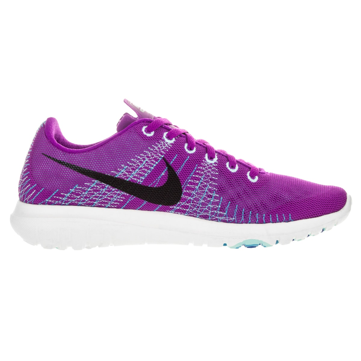 124046f222cf Shop Nike Women s Flex Fury Vivid Purple Black Copa  Running Shoe - Free  Shipping Today - Overstock - 12321760