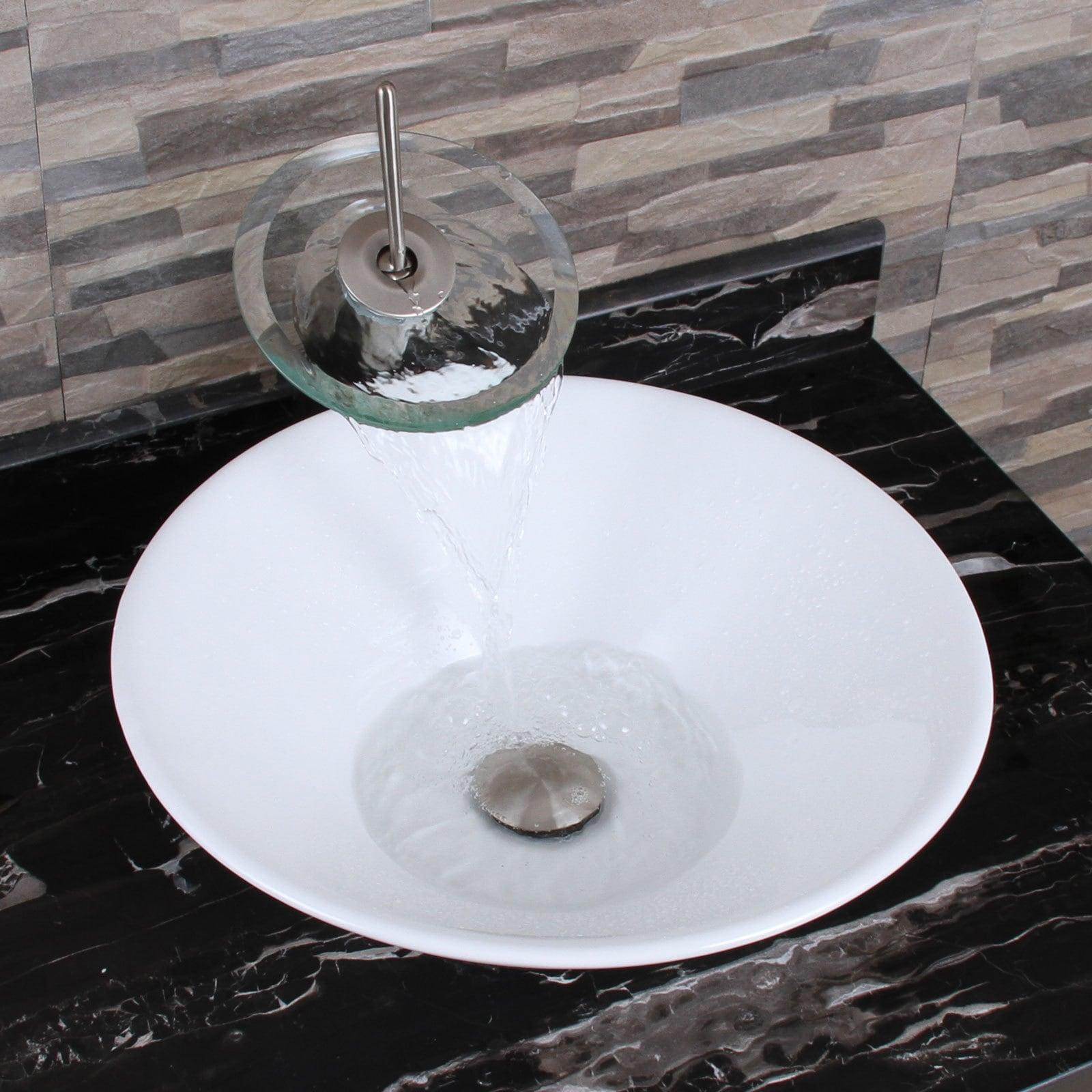 ELIMAX\'S 303 Unique Funnel Shape White Porcelain Ceramic Bathroom ...
