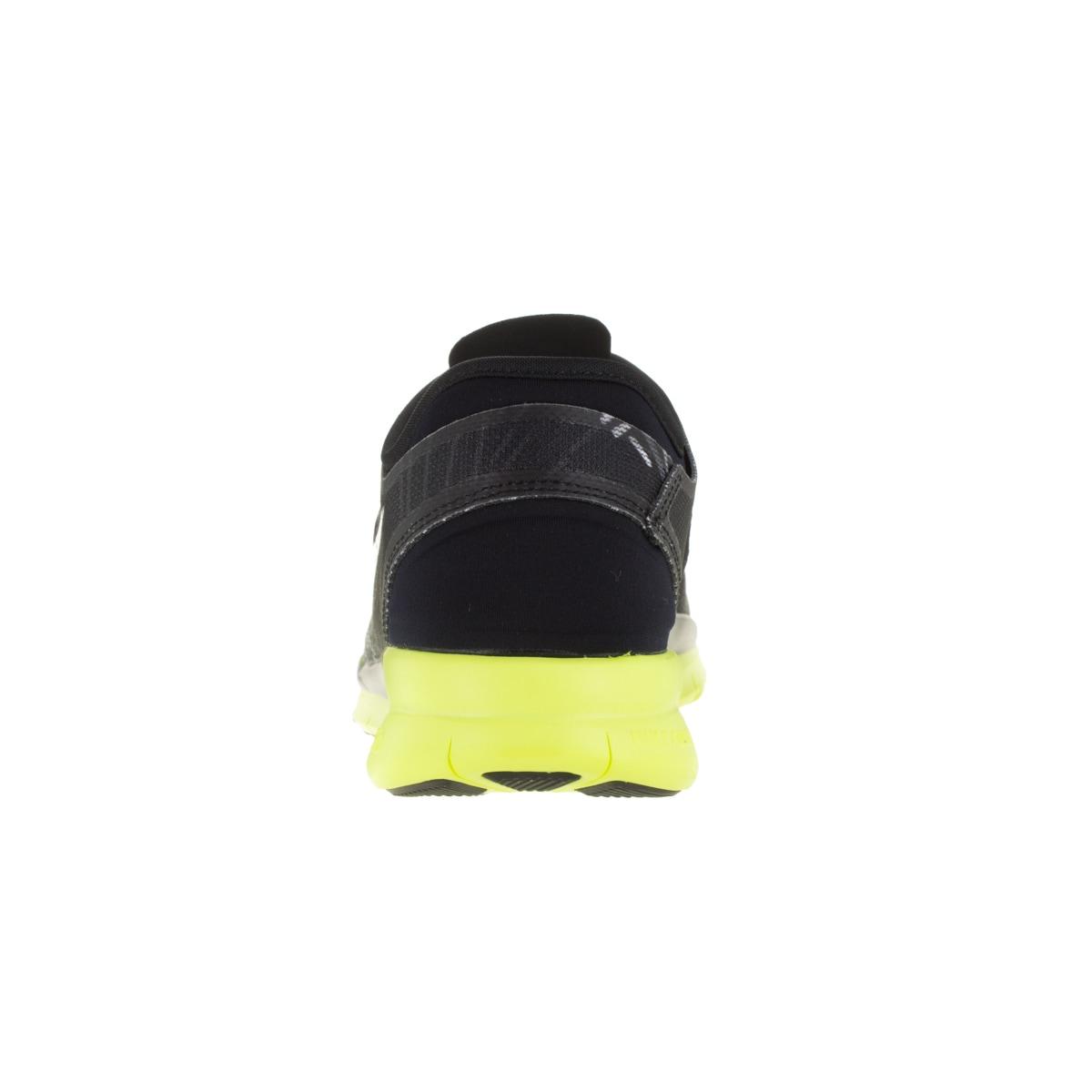 dc968ea7c752 Shop Nike Women s Free 5.0 Tr Fit 5 Prt Black Metallic Silver Volt Training  Shoe - Free Shipping Today - Overstock - 12321940