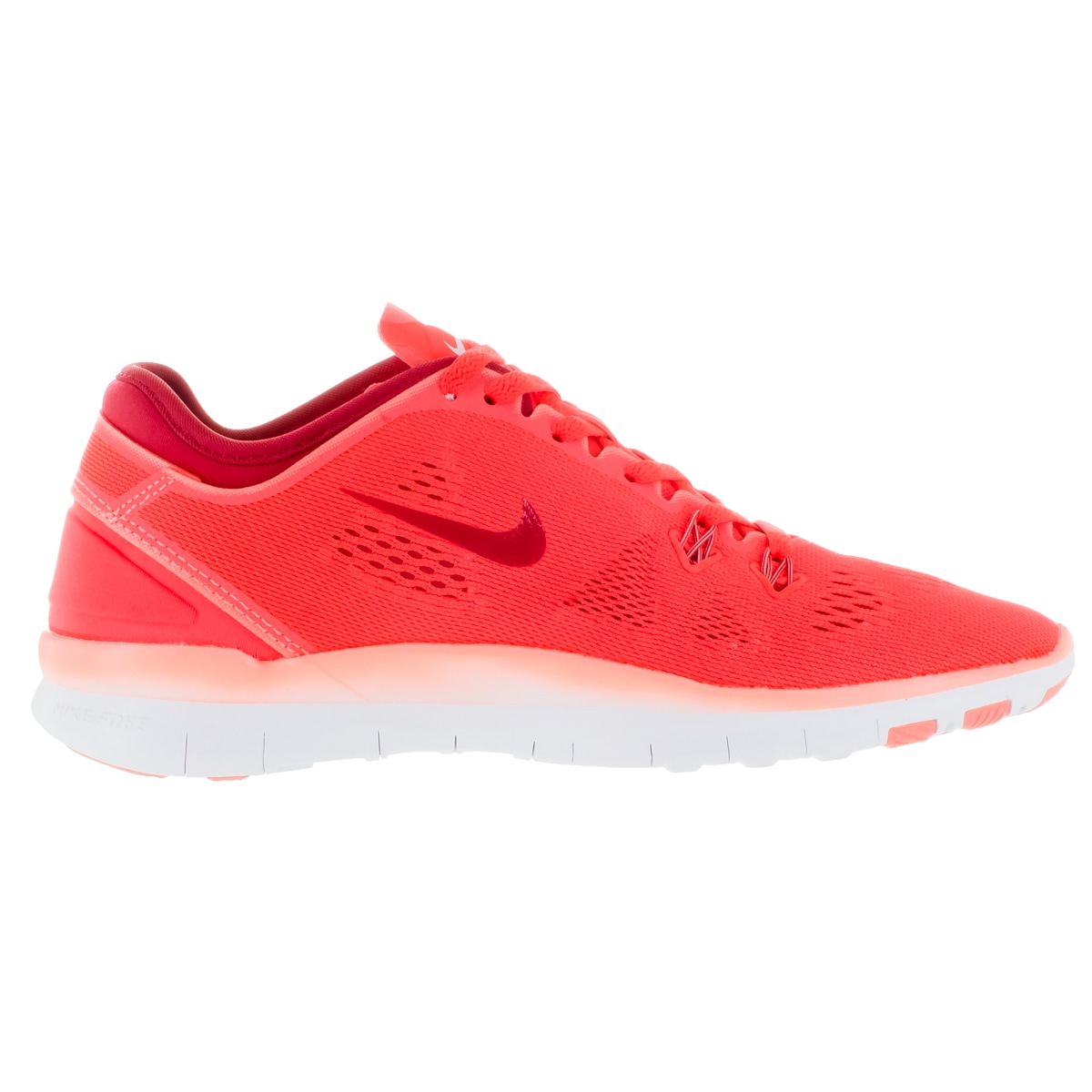 b26a0f370fb7 Shop Nike Women s Free 5.0 Tr Fit 5 Brgh Prm Rd Atmc Pink Wh Training Shoe  - Free Shipping Today - Overstock - 12321982