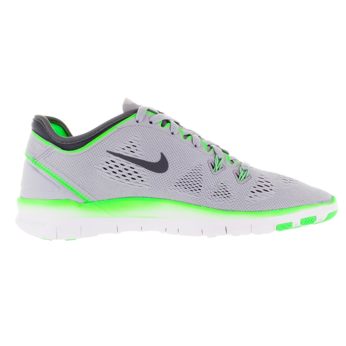 3ea2a7cf07e Shop Nike Women s Free 5.0 Tr Fit 5 Wolf Grey Dark Grey  Green Training  Shoe - Free Shipping Today - Overstock - 12322002