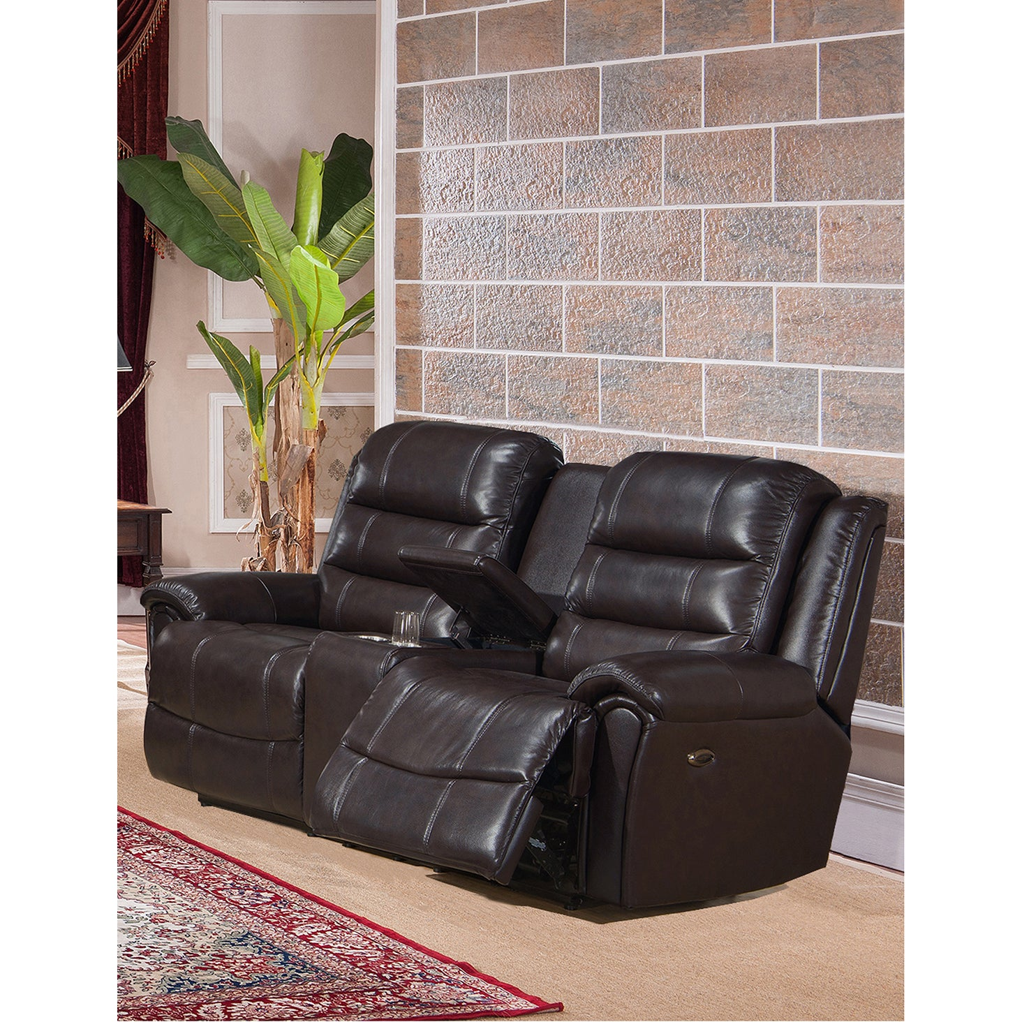 Astoria Leather Power Reclining Sofa Loveseat and Chair Set