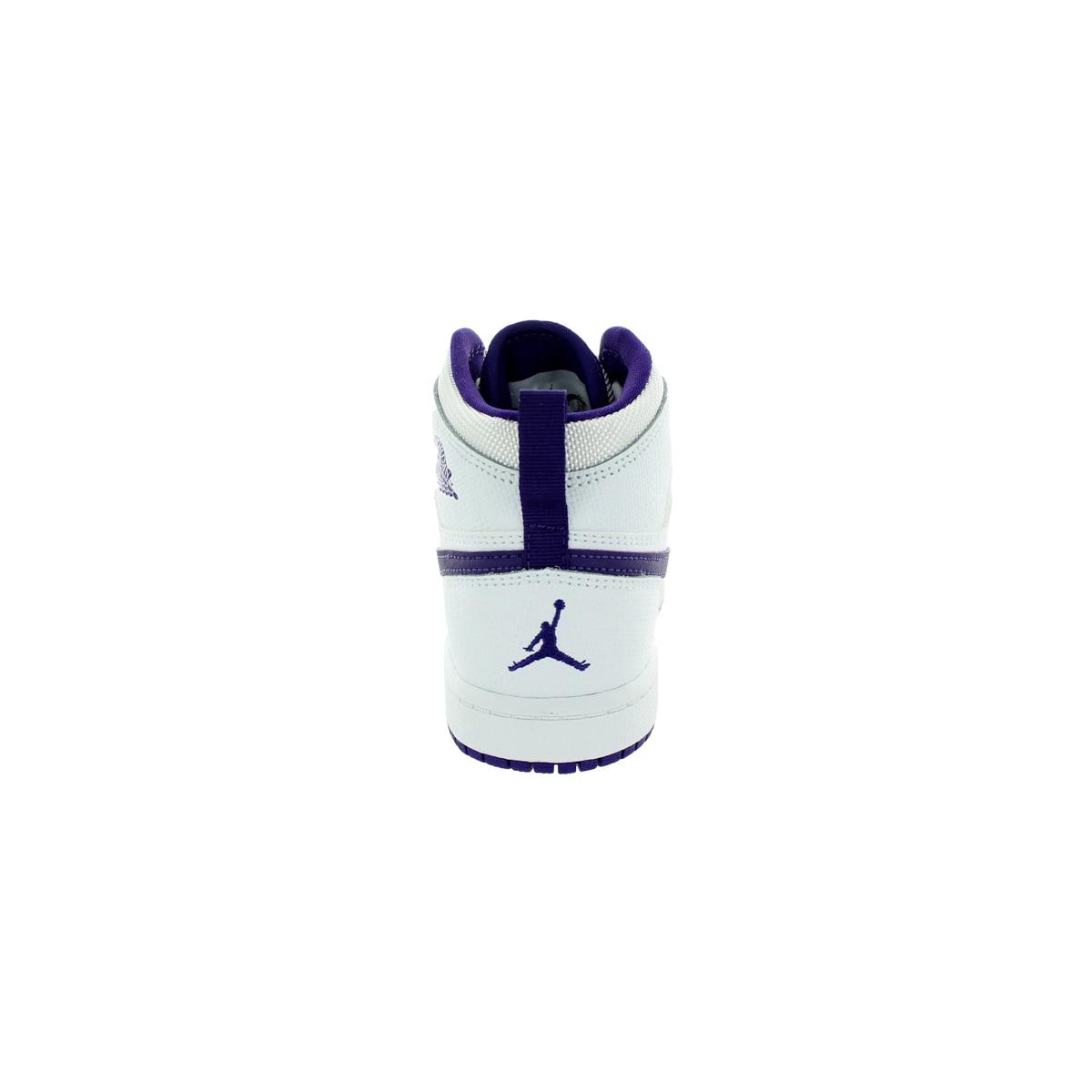 finest selection 939ce 8101f Shop Nike Jordan Kid s Jordan 1 Retro High Gp Whiteurplee White Basketball  Shoe - Free Shipping Today - Overstock.com - 12322166