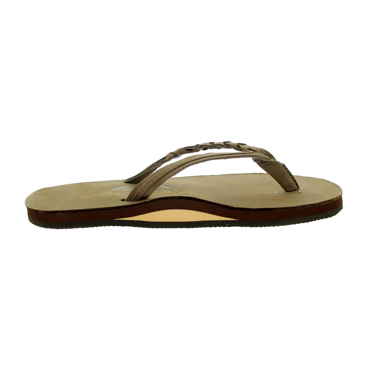 bad1421705d Shop Rainbow Sandals Women s Flirty Braidy Dark Brown Sandal Ladies 10  (9.5-10.5 Women s Us) - Free Shipping Today - Overstock - 12322167