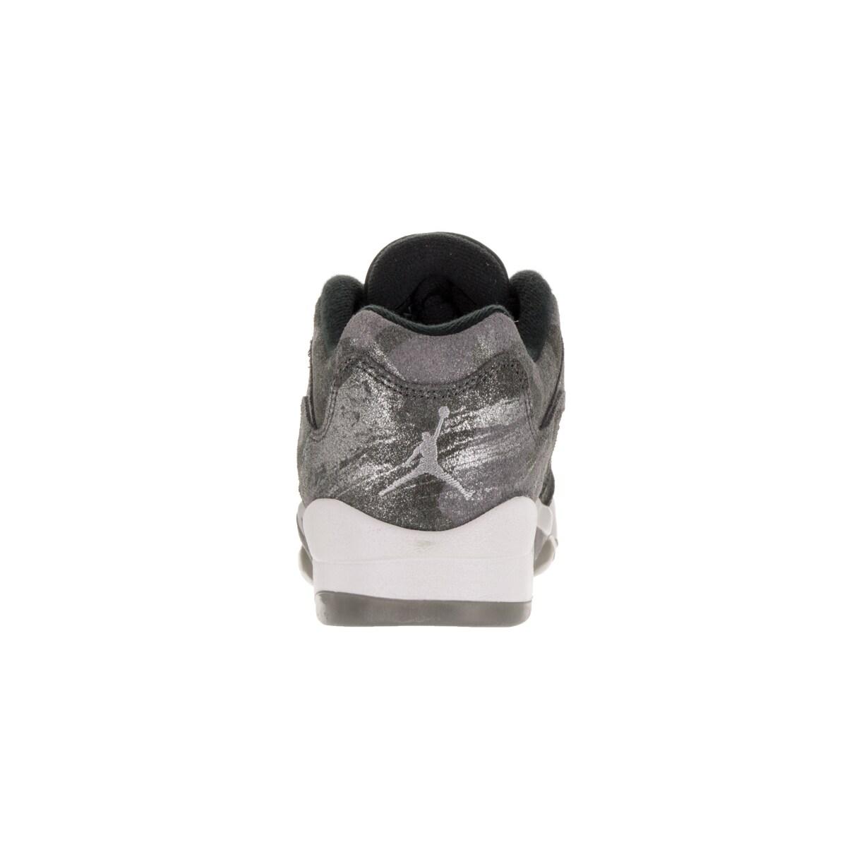 new style 70599 d969b Shop Nike Jordan Kid s Air Jordan 5 Retro Prem Low Gg Cool Grey Wolf Grey White Black  Basketball Shoe - Free Shipping Today - - 12322358