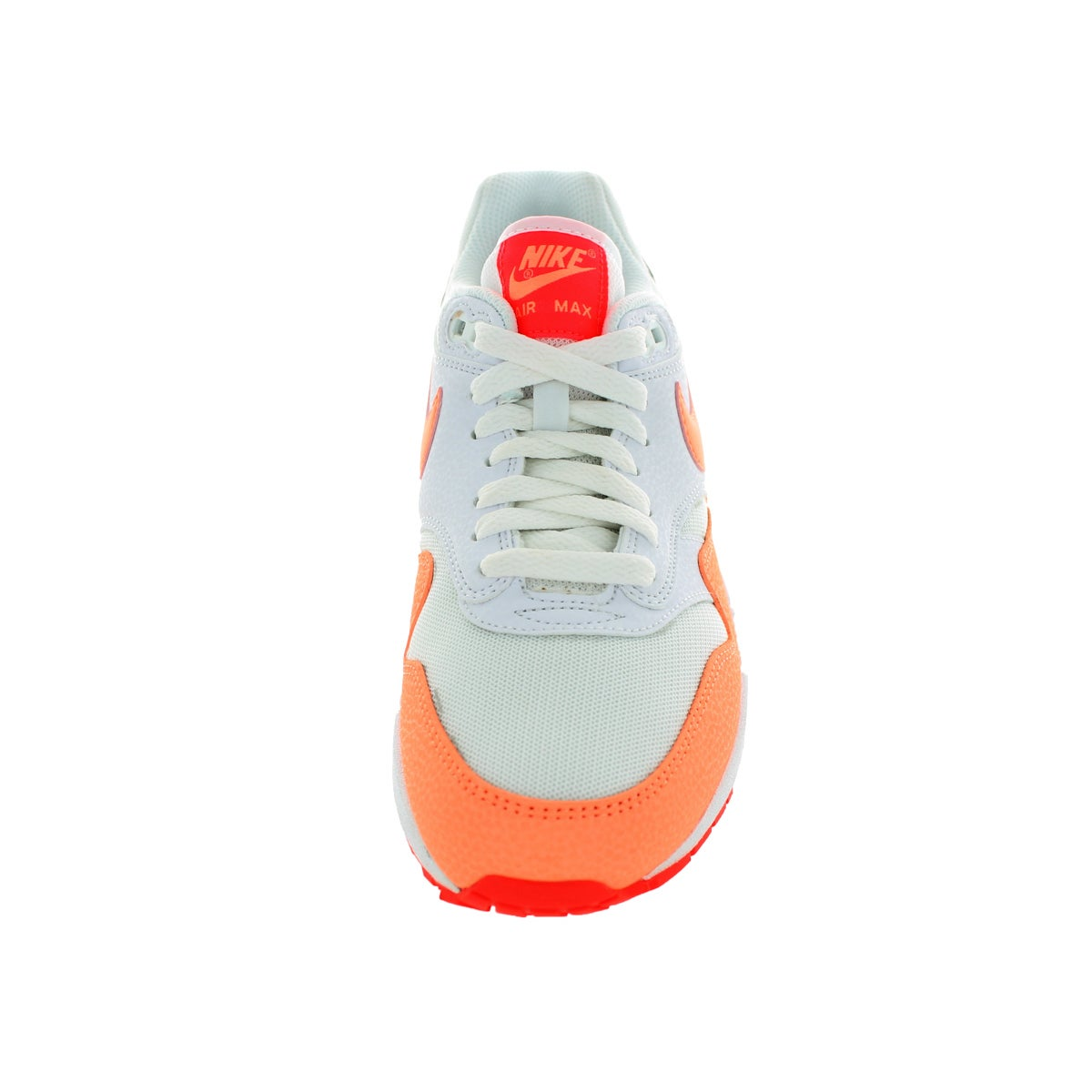 super popular 030bd ebff9 Shop Nike Women s Air Max 1 Essential White Sunset Glow Hot Lava Running  Shoe - Free Shipping Today - Overstock - 12322518