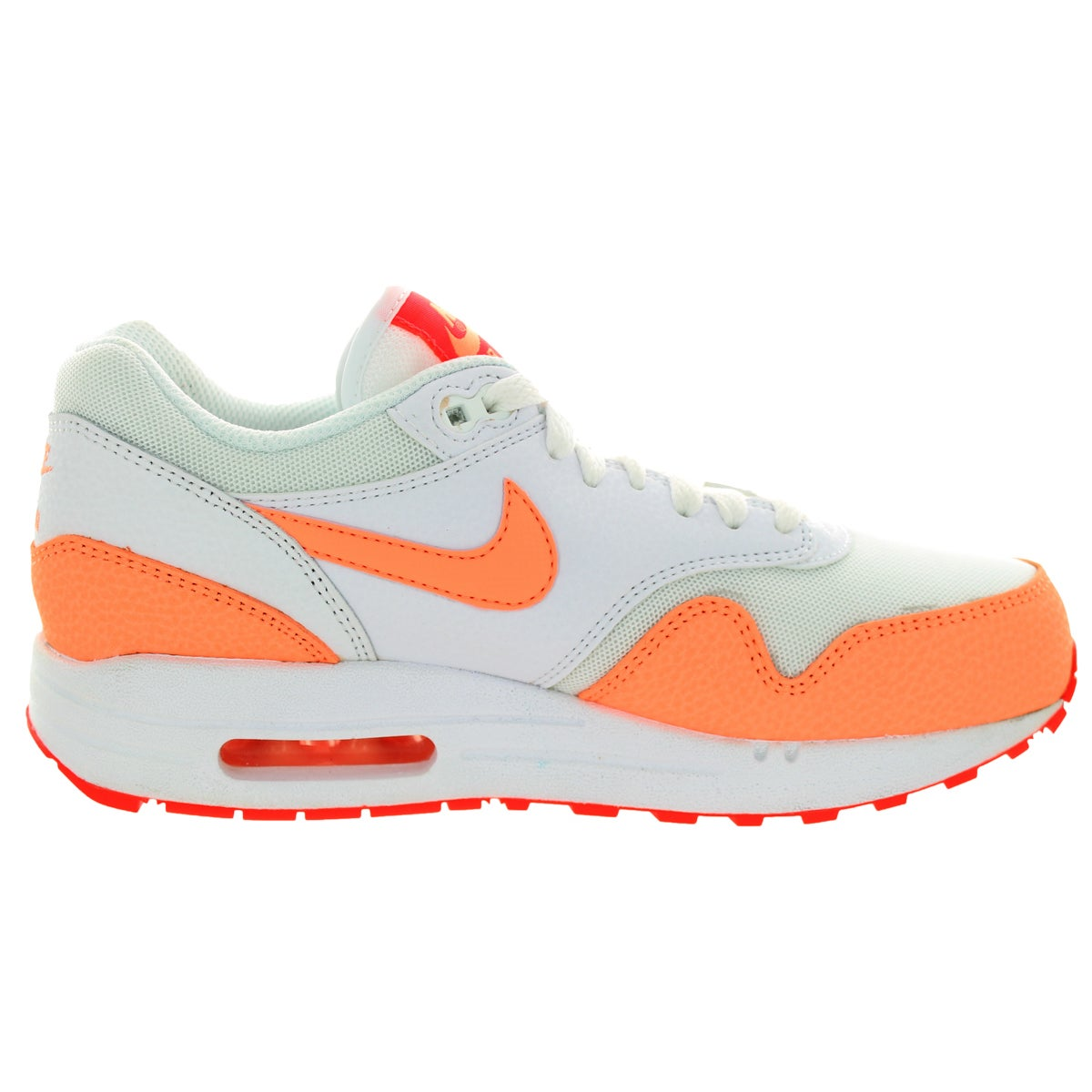 super popular 7e792 77a94 Shop Nike Women s Air Max 1 Essential White Sunset Glow Hot Lava Running  Shoe - Free Shipping Today - Overstock - 12322518