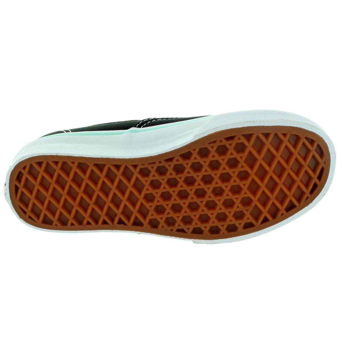 Shop Vans Kid s Authentic (Pop) Black Blue Tint Skate Shoe - Free Shipping  On Orders Over  45 - Overstock.com - 12323826 f9026de666f