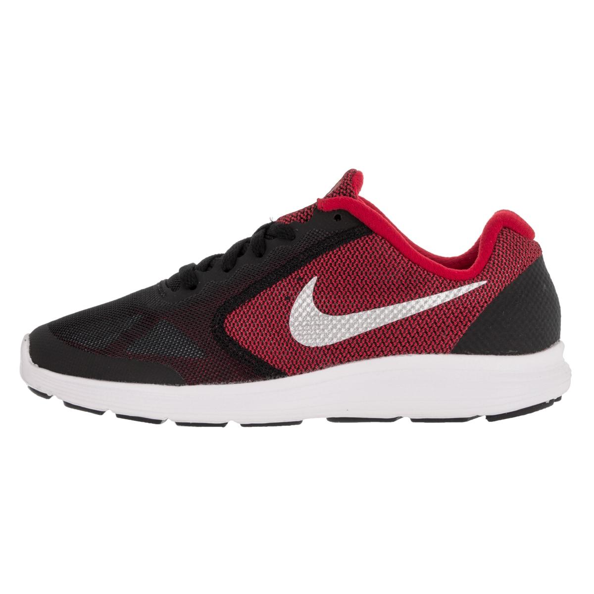 8c99c59d2502 Shop Nike Kid s Revolution 3 (Gs) University Red Metallic Silver Black White  Running Shoe - Free Shipping Today - Overstock - 12324091