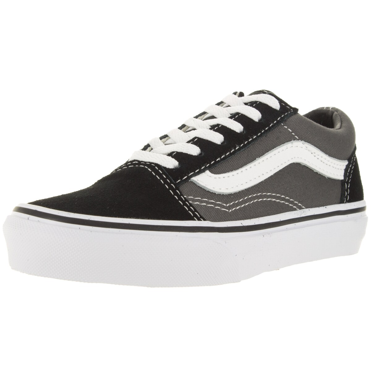a58c69fd96 Shop Vans Kid s Old Skool Black Pewter Skate Shoe - Free Shipping On Orders  Over  45 - Overstock - 12324535