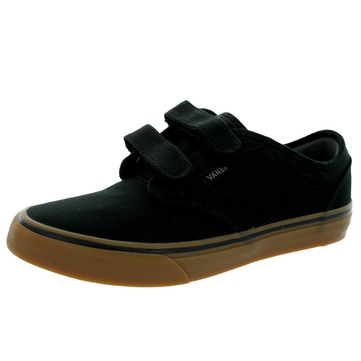 Shop Vans Kid s Atwood V (Canvas) Black Gum Skate Shoe - Free ... 1a628569349