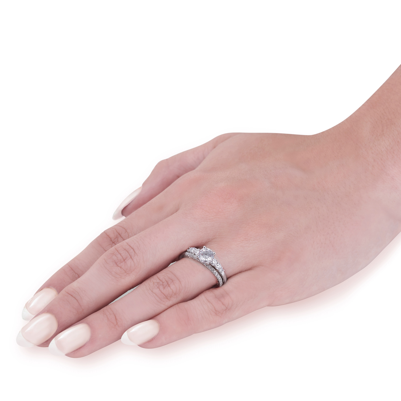 Shop 14k White & Rose Gold 1 1/10 ct TDW Lab Grown DiamondEco ...