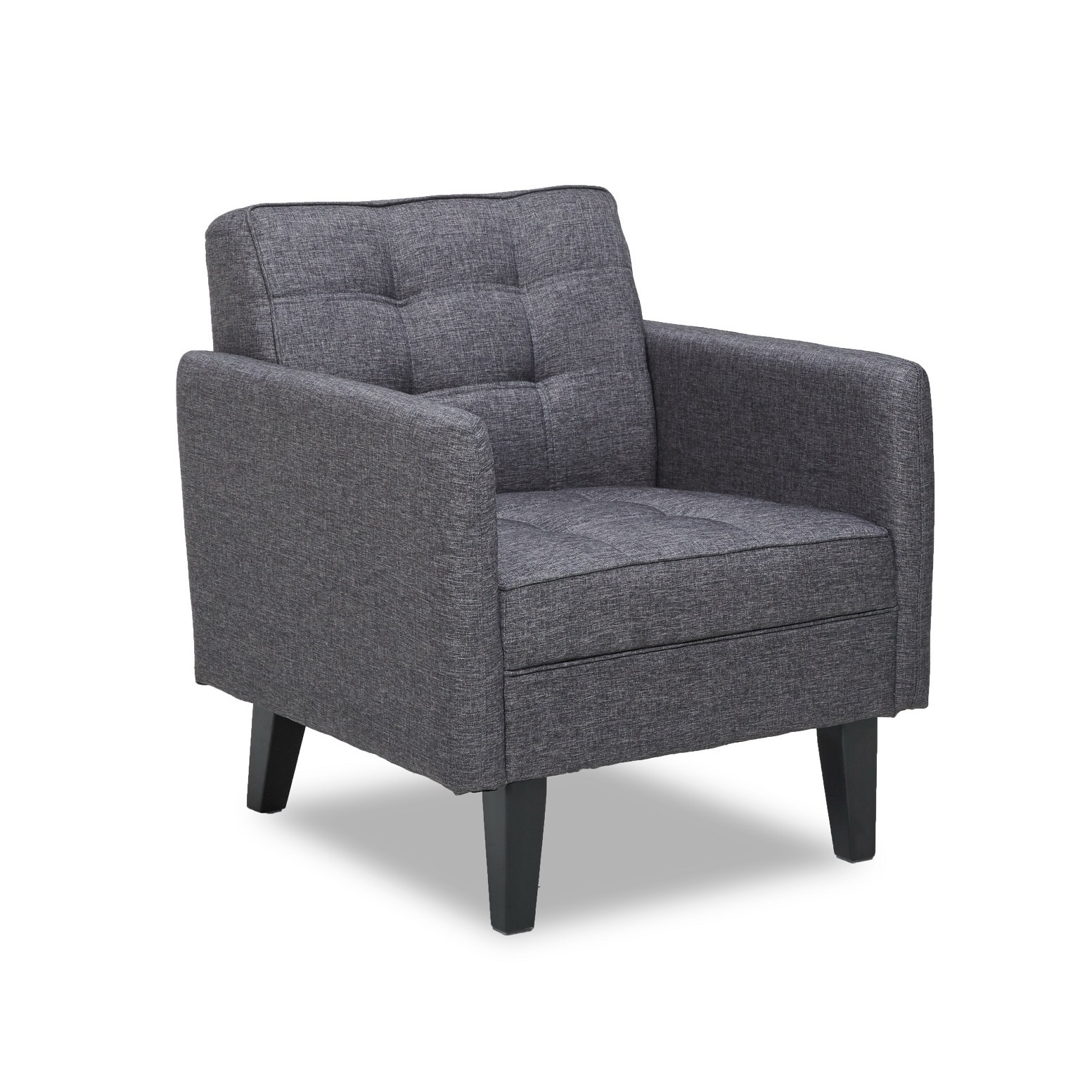 Shop harper modern tufted grey accent chair free shipping today overstock com 12327962