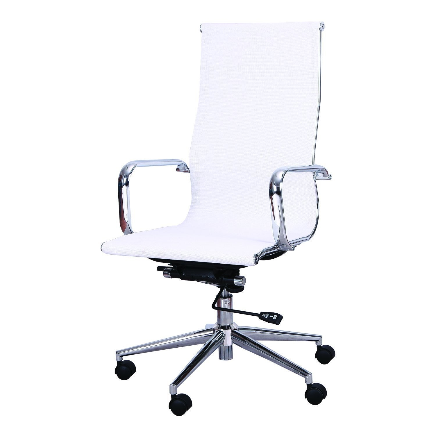 Superbe Adeco High Back Adjustable White Mesh Desk Chair   Free Shipping Today    Overstock   19159969