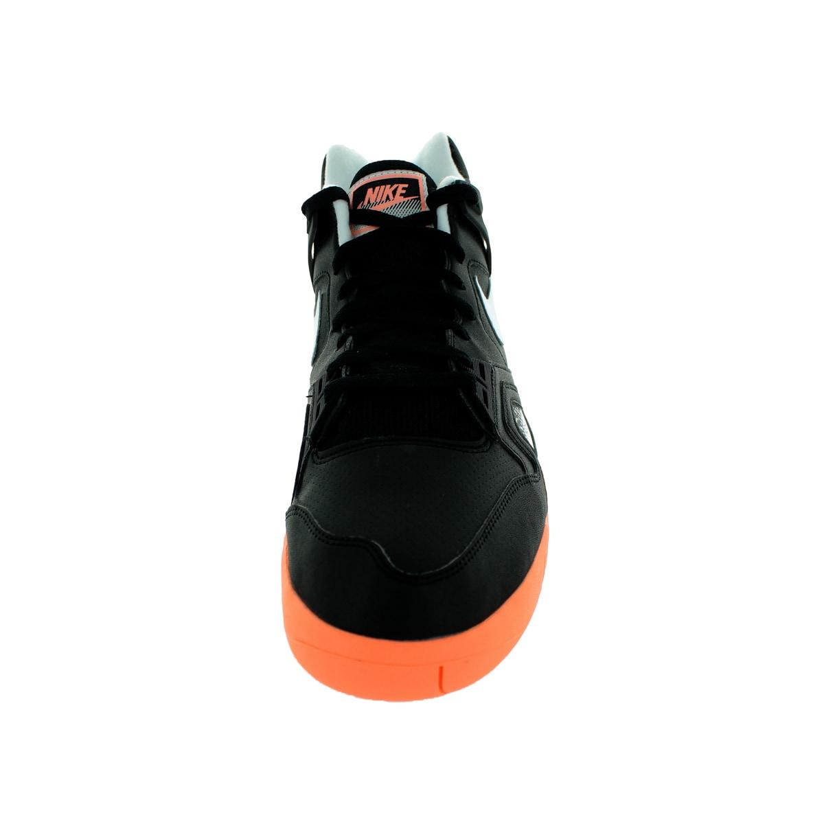 3772547ccf9 Shop Nike Men s Air Tech Challenge Ii Black White Sunset Glow Tennis Shoe -  Free Shipping Today - Overstock - 12328681