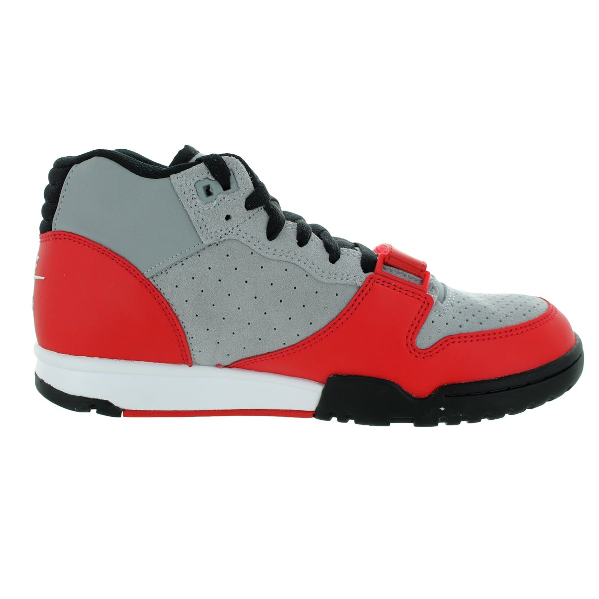 super cute f5a59 31517 Shop Nike Men s Air Trainer 1 Mid Wolf Grey White University Rd Black Training  Shoe - Free Shipping Today - Overstock - 12328731
