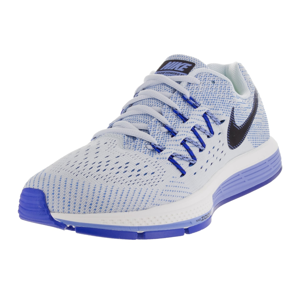 online retailer 60891 8228d Shop Nike Women s Air Zoom Vomero 10 Blue Tint Black Chalk Blue Running Shoe  - Free Shipping Today - Overstock - 12328803
