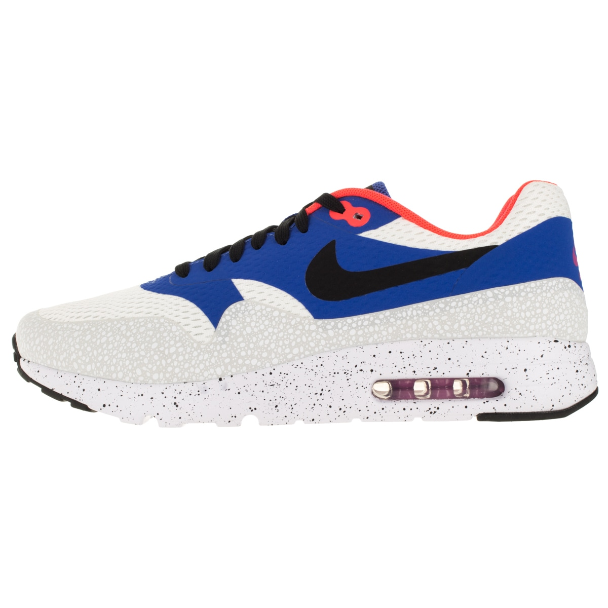 Nike Men's Air Max 1 Ultra Essential White/Black/Varsity Royal/Rflct Slvr  Running Shoe - Free Shipping Today - Overstock.com - 19160687
