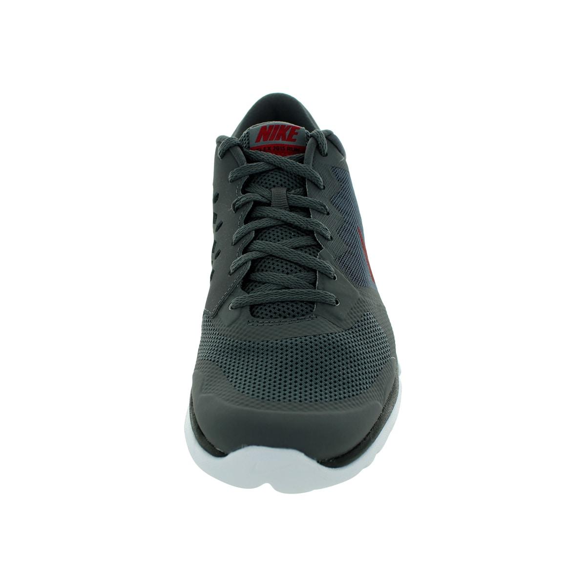 82d086047bb5 Shop Nike Men s Flex 2015 Dark Grey Gym Red Black White Running Shoe - Free  Shipping Today - Overstock - 12328913