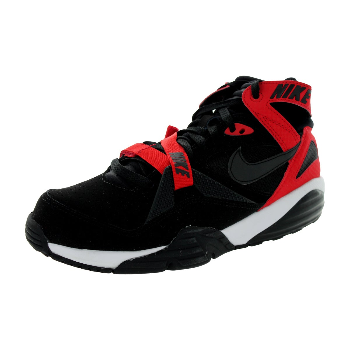 e4965d8f7a1 Shop Nike Men s Air Trainer Max  91 Black Black University Red White  Training Shoe - Free Shipping Today - Overstock.com - 12328925