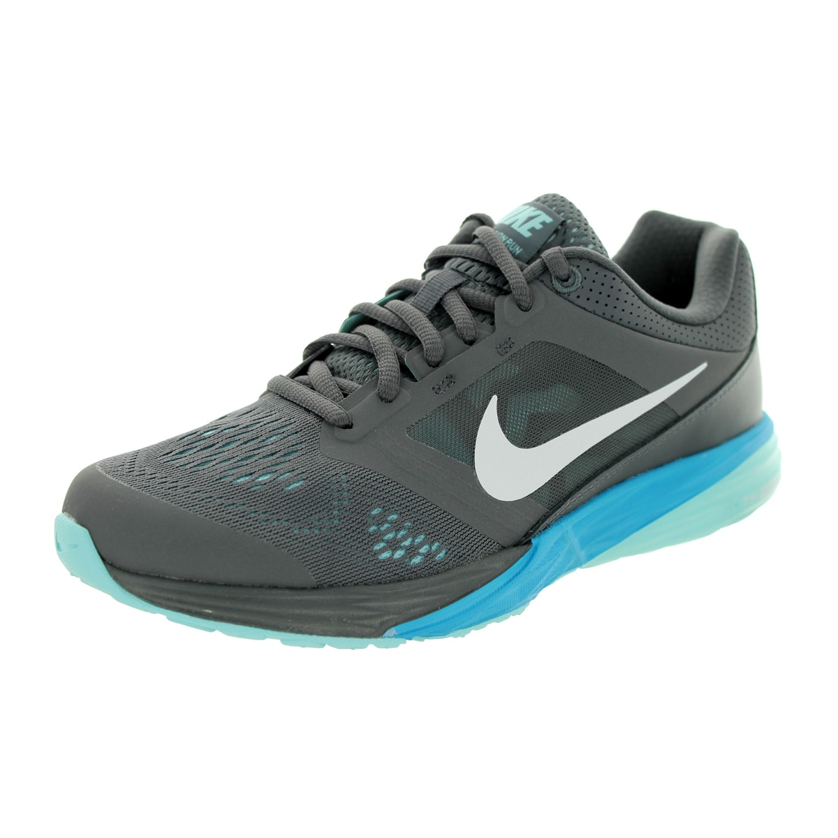 9c5ee295abe7 Shop Nike Women s Tri Fusion Run Dark Grey White Blue Lagoon Cp Running Shoe  - Free Shipping Today - Overstock - 12328973