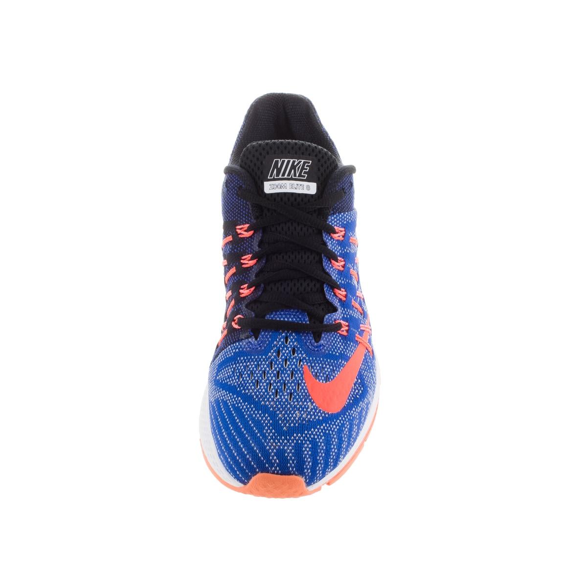 0563147bdb443 Shop Nike Women s Air Zoom Elite 8 Racer Blue  Orange Black Running Shoe -  Free Shipping Today - Overstock - 12328979