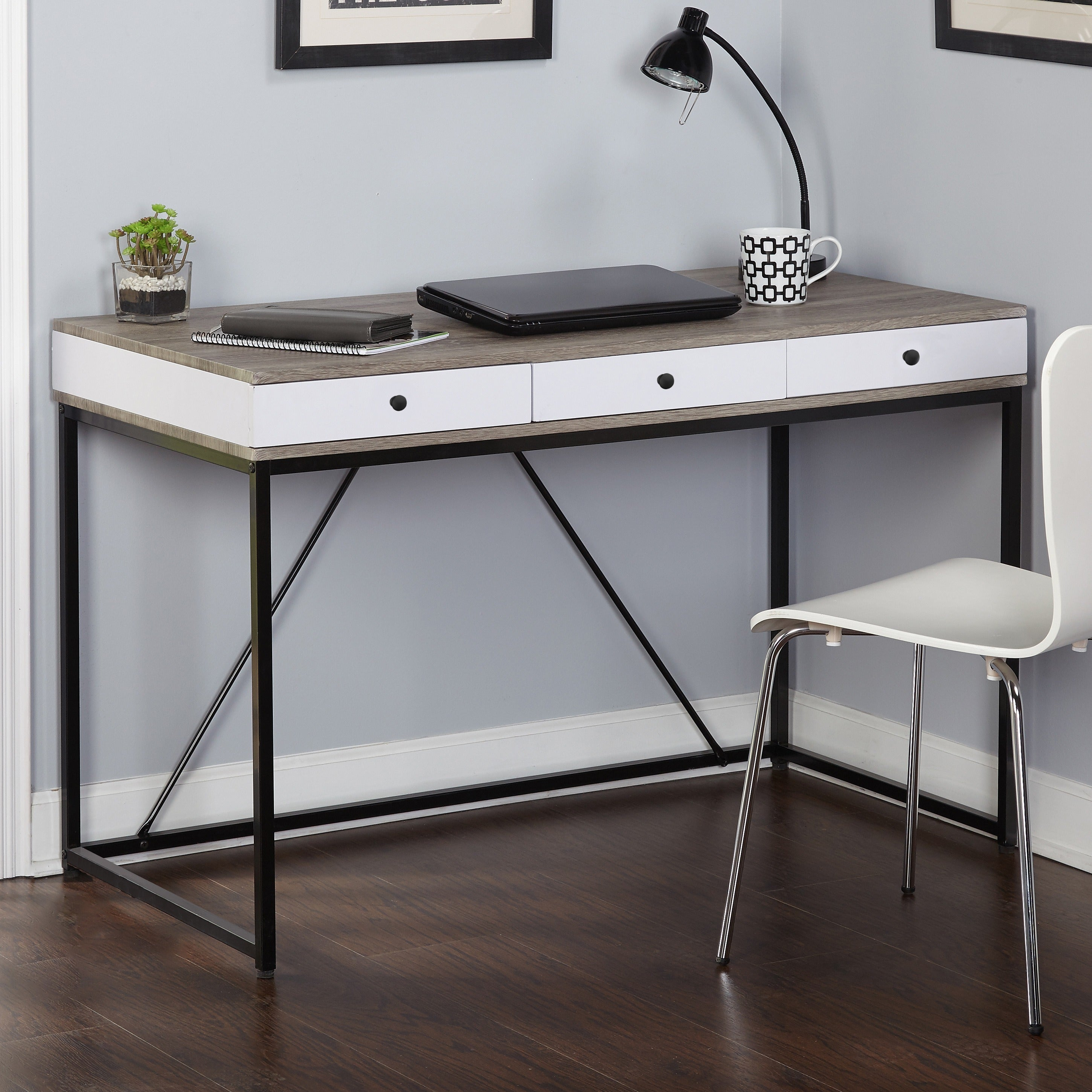 Simple Living Chelsea 3-drawer Desk - Free Shipping Today - Overstock.com -  19160783