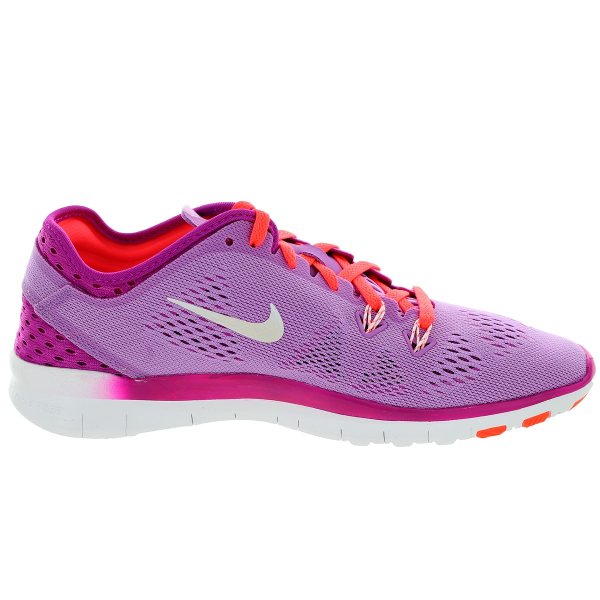 ec93ed047063 Shop Nike Women s Free 5.0 Tr Fit 5 Brthe  White Ht Lv Training Shoe - Free  Shipping Today - Overstock.com - 12329140
