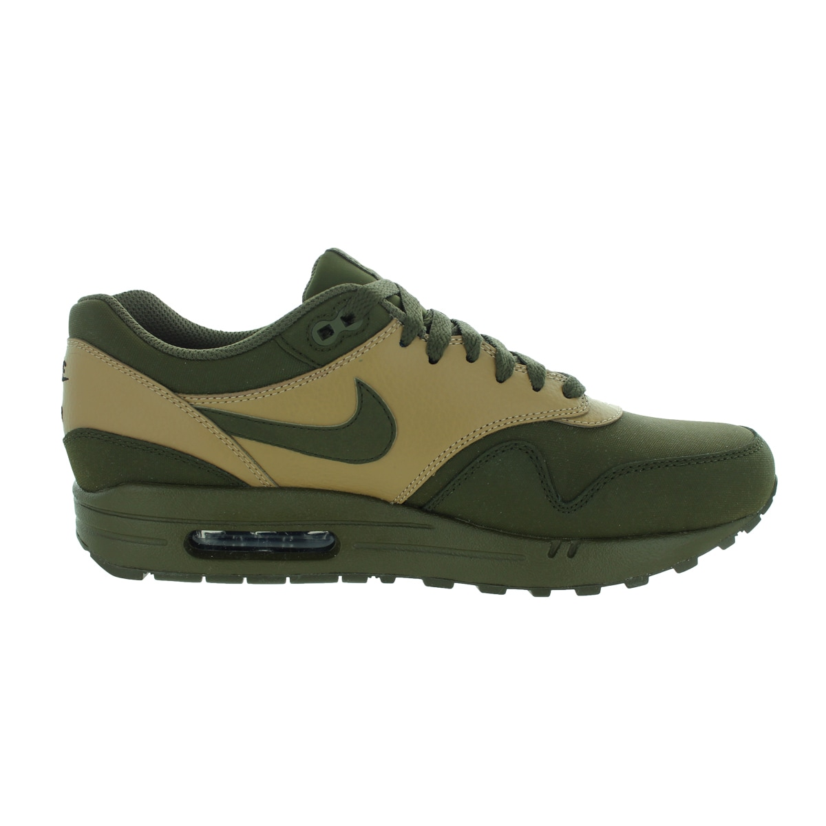 detailed pictures f06c3 403a0 Shop Nike Men s Air Max 1 Ltr Premium Dark Loden Drk Ldn Dsrt Cm Black  Running Shoe - Free Shipping Today - Overstock - 12329152