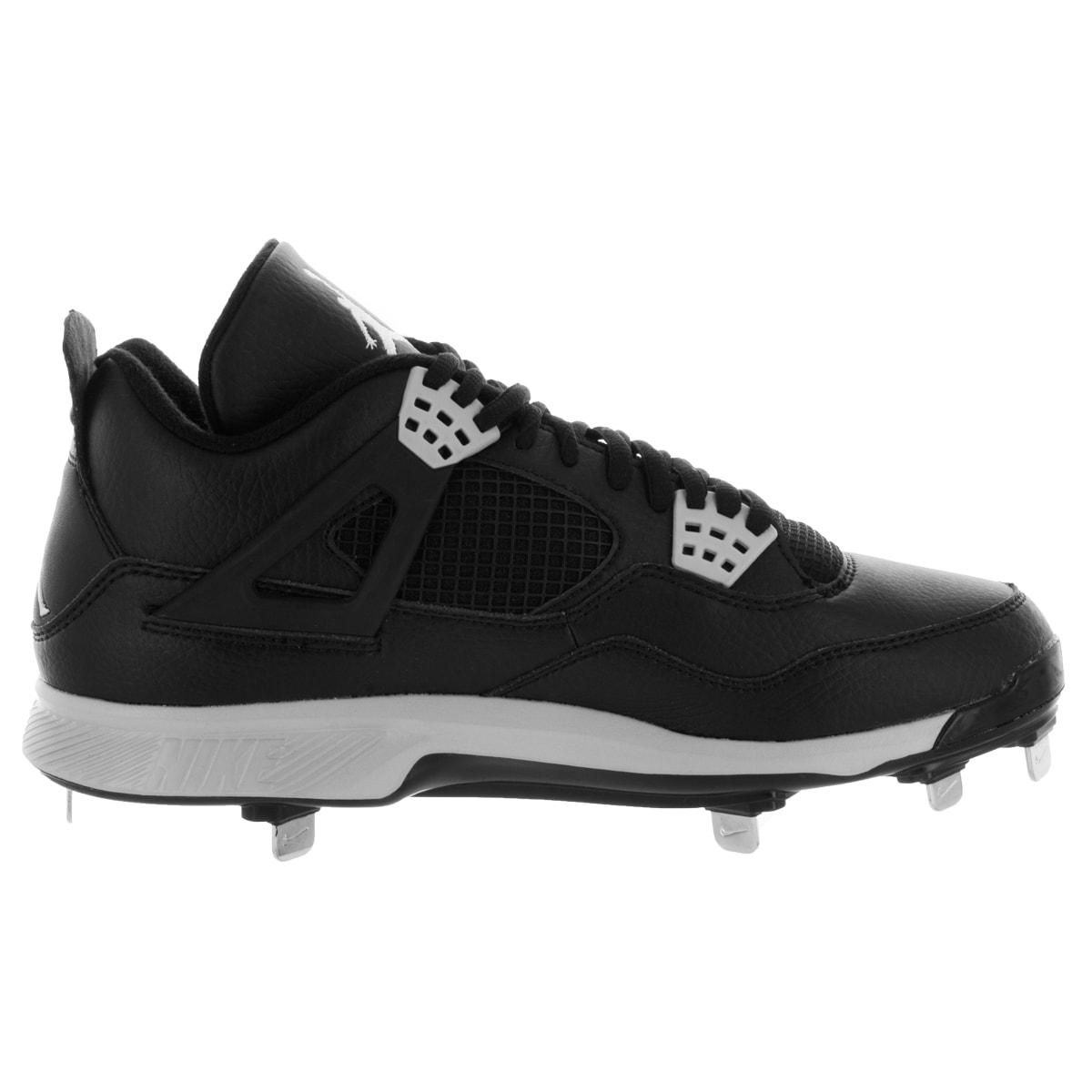 087f2a80dfbd Shop Nike Jordan Men s Jordan Iv Retro Metal Black Tech Grey Baseball Cleat  - Free Shipping Today - Overstock - 12329231