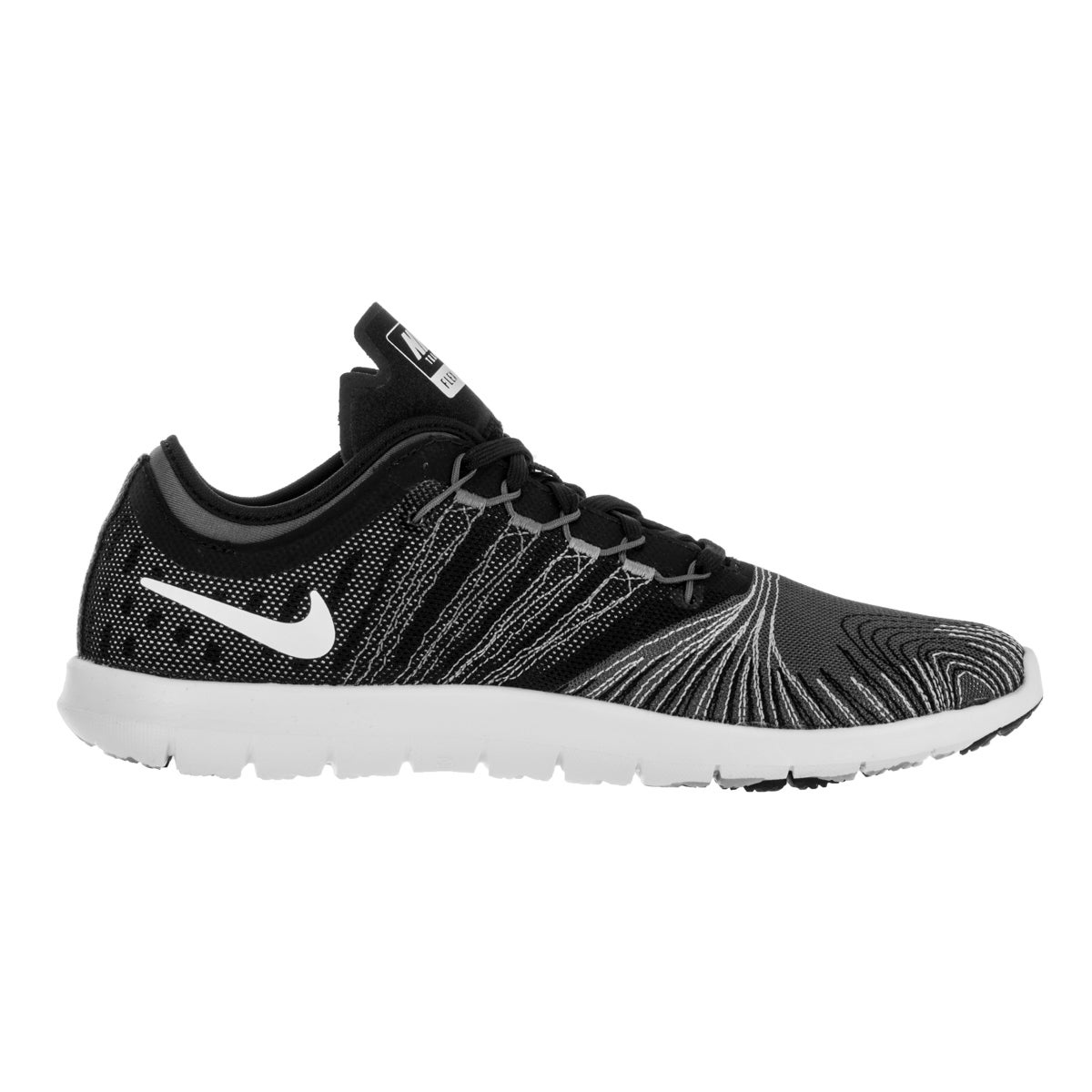 bd26215990c9 Shop Nike Women s Flex Adapt Tr Dark Grey White Black Stealth Training Shoe  - Free Shipping Today - Overstock - 12329237