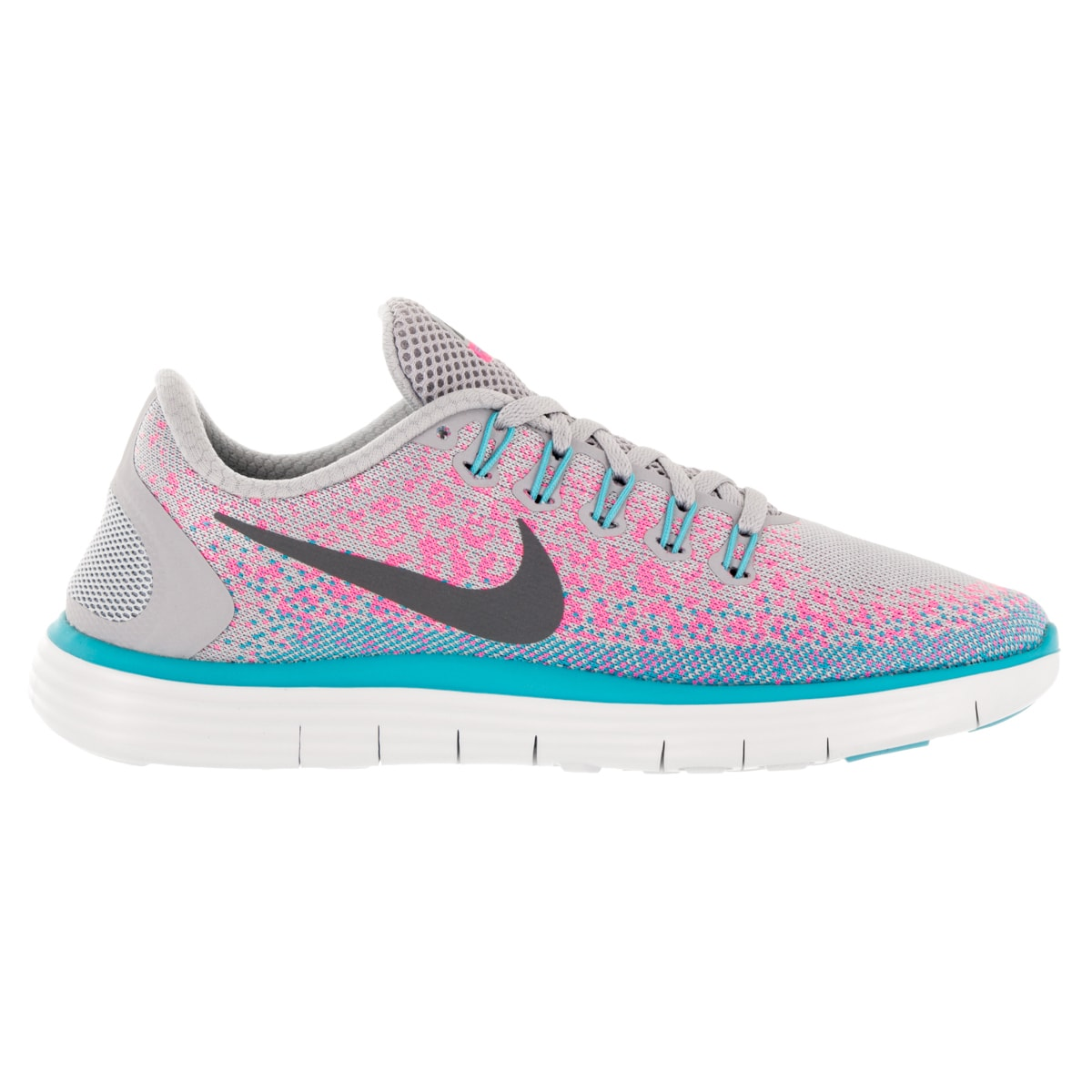 c7cb9ae4c730 Shop Nike Women s Free Distance Wolf Grey Dark Grey Pink Blast Running Shoe  - Free Shipping Today - Overstock - 12329260