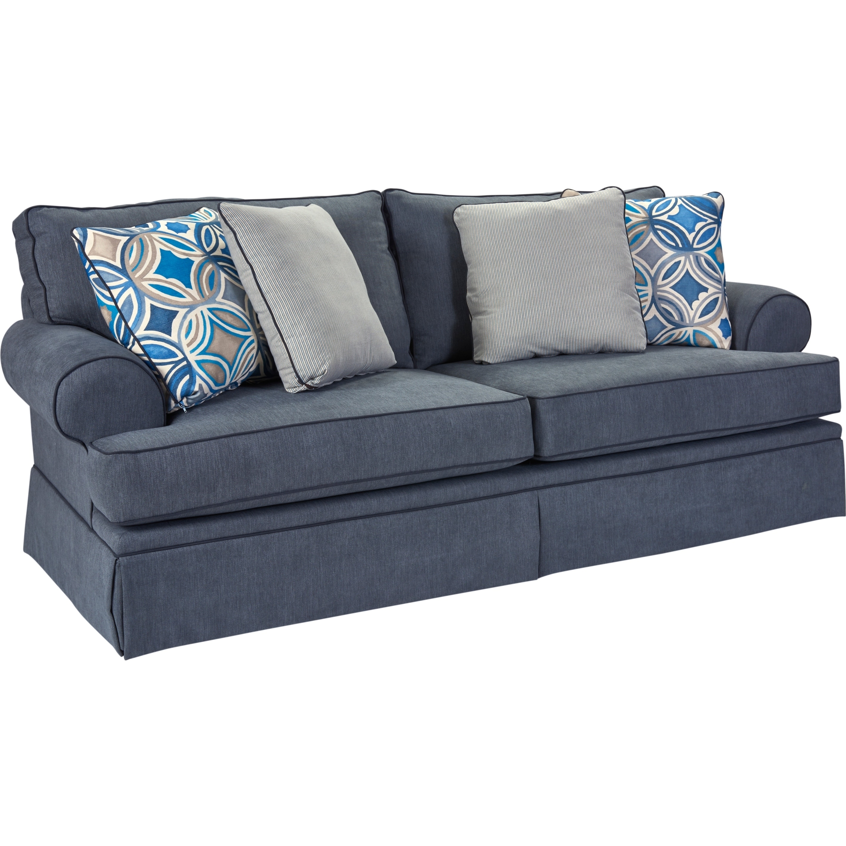 Shop Broyhill Emily Sofa In Blue   Free Shipping Today   Overstock.com    12330359
