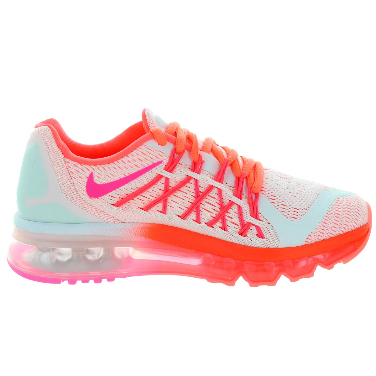 newest 1f8d4 8d2e5 Shop Nike Kids Air Max 2015 (Gs) White Pink Pow Hot Lava Lv Glw Running Shoe  - Free Shipping Today - Overstock - 12330614