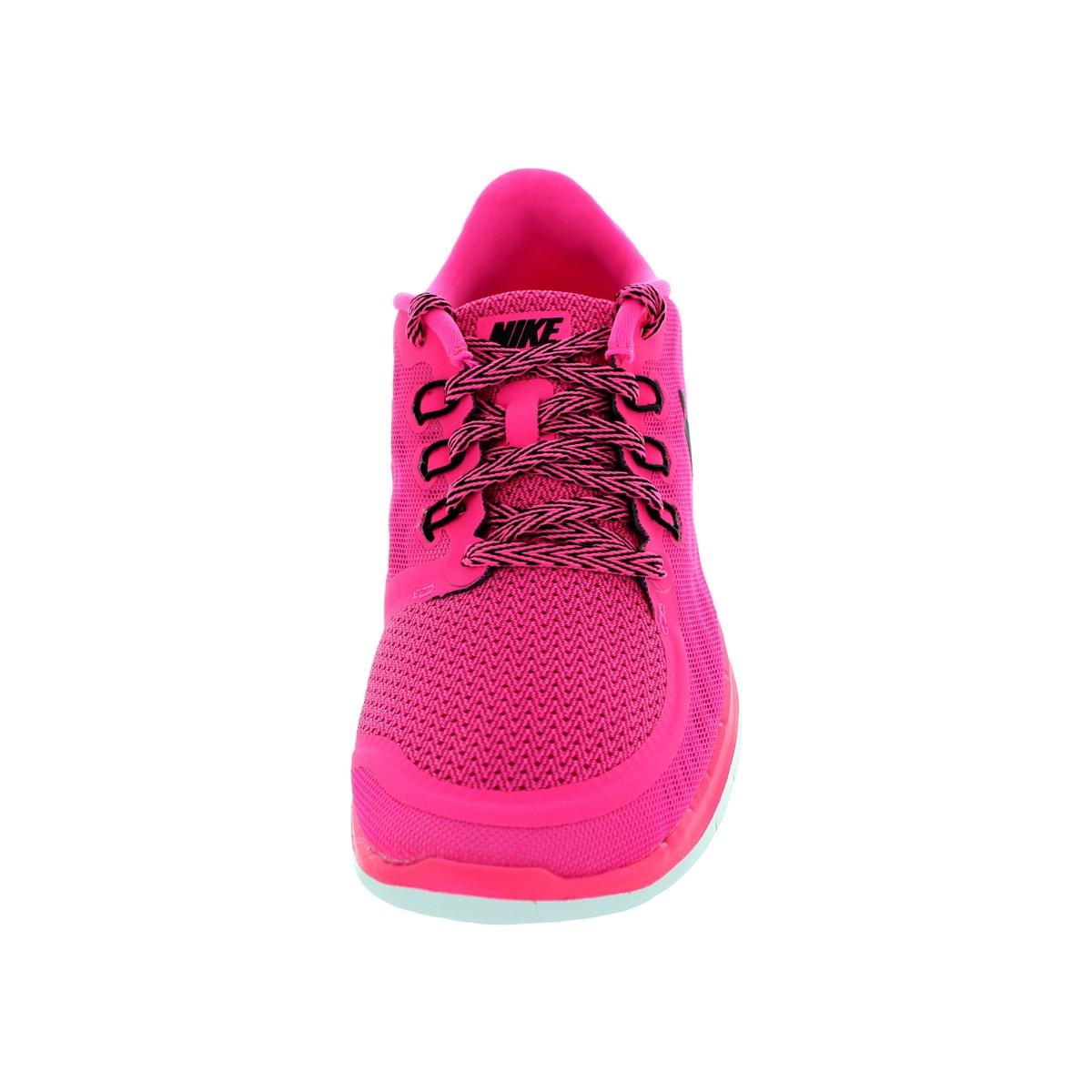 200e44c83 Shop Nike Kids Free 5.0 (Gs) Pink Pow Black Vivid Pink White Running Shoe -  Free Shipping Today - Overstock - 12330617