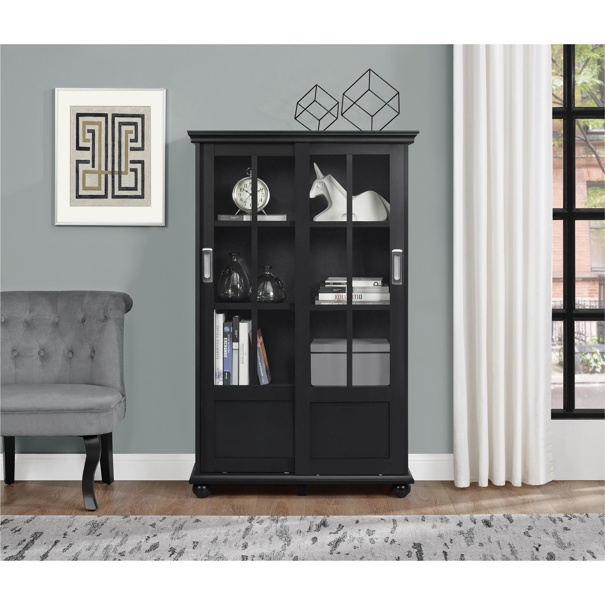 garden glass ameriwood lane doors overstock sliding with today home bookcases free aaron navy bookcase shipping product