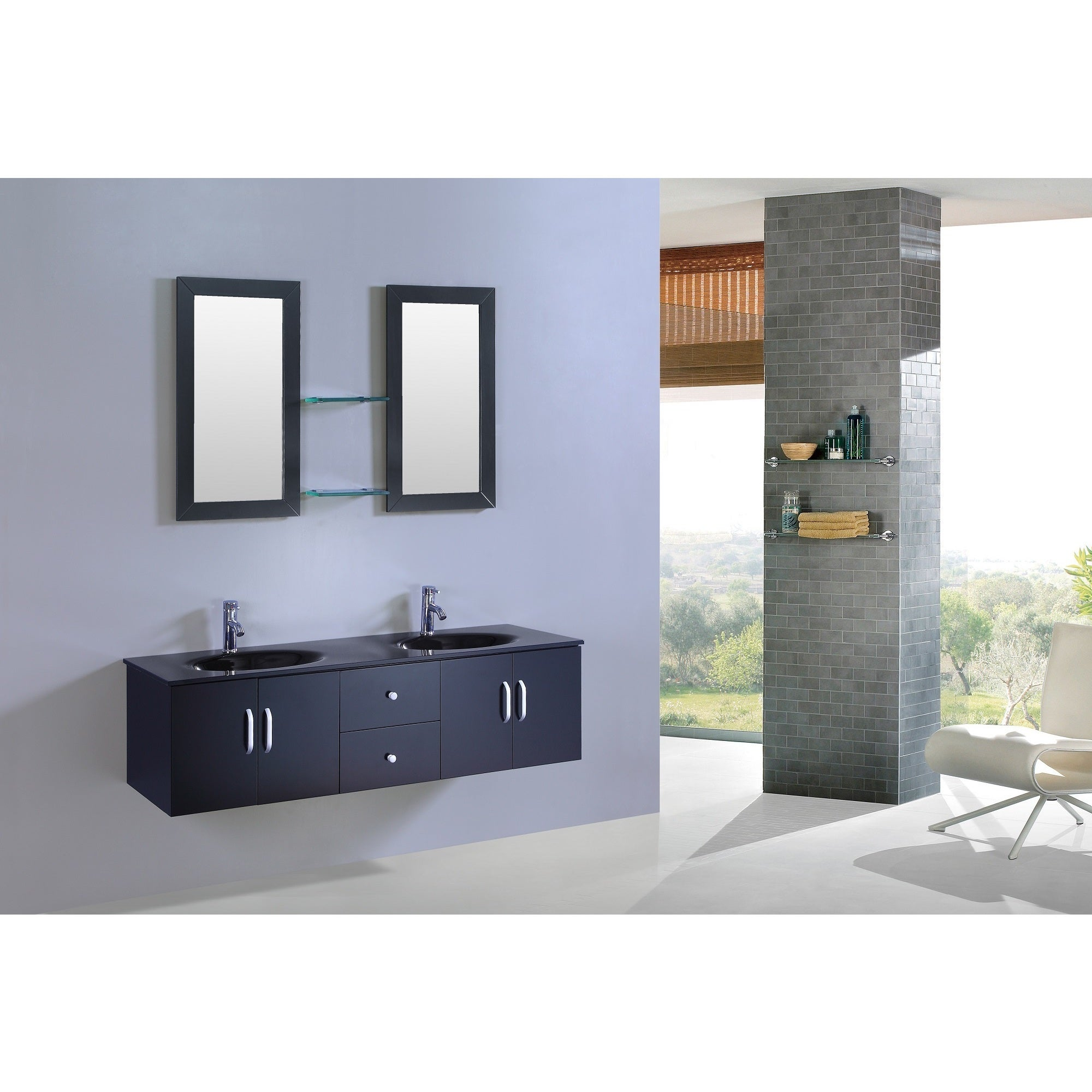 Legion Furniture 60-inch Double Sink Vanity with Mirrors - Free ...