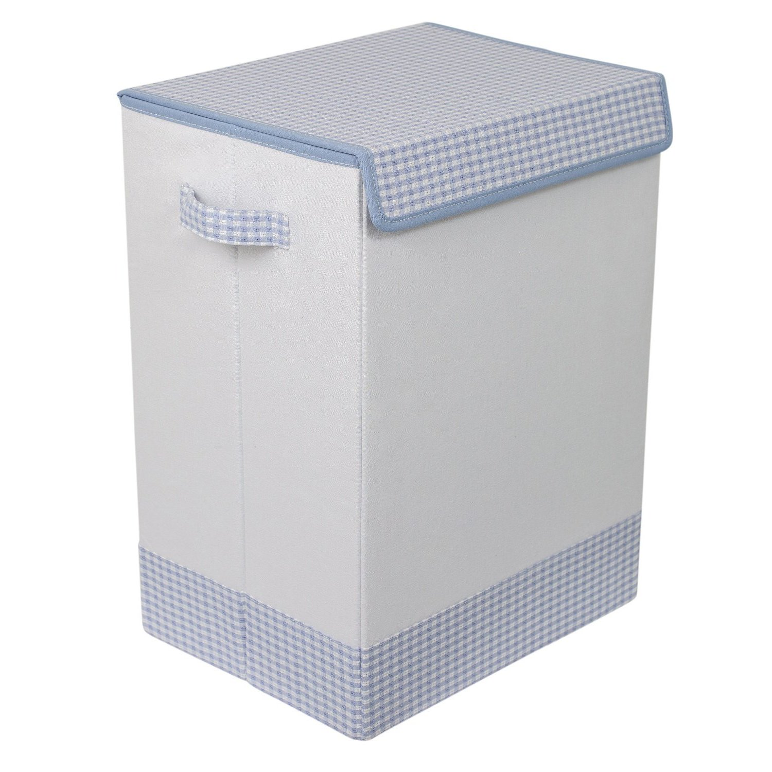 Birdrock Home Blue White Linen Baby Clothes Hamper With Lid Free Shipping On Orders Over 45 12334644
