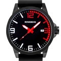 Rousseau Dufaux Men's sport watch, XL case size, bold accents, Miyota quartz movement