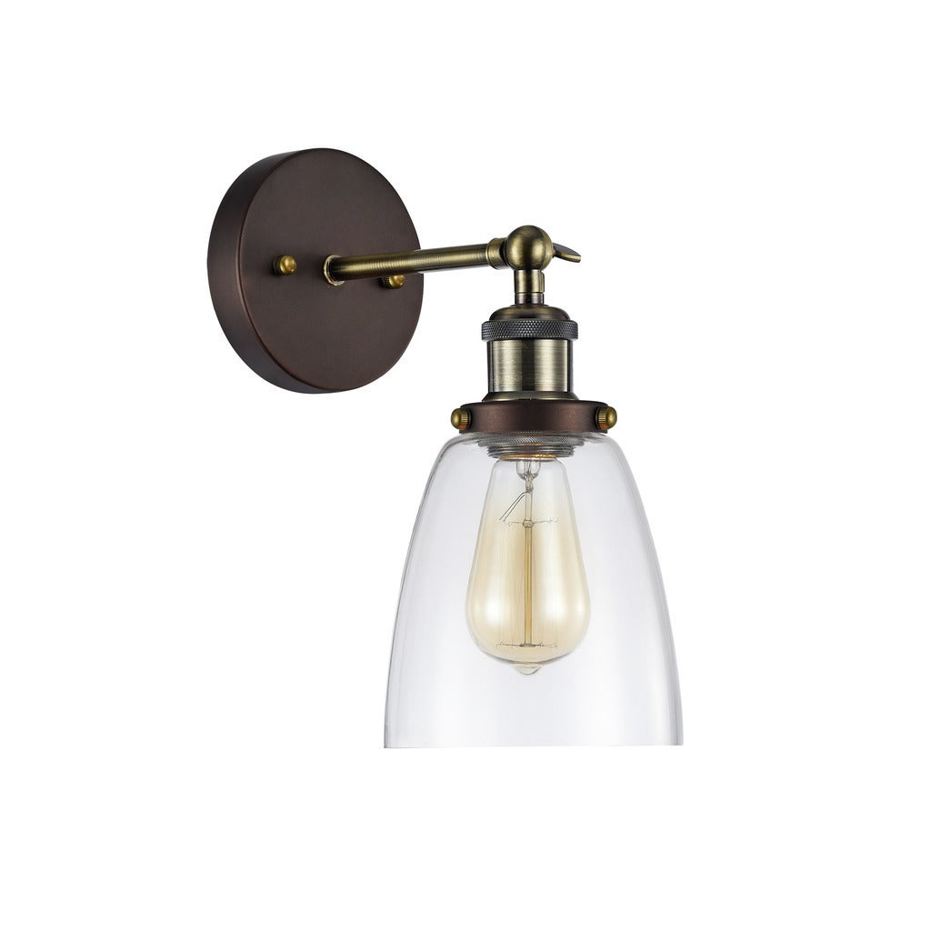 Shop Chloe Industrial 1 Light Oil Rubbed Bronze Wall Sconce Free